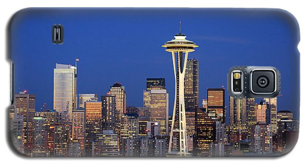 Seattle At Dusk Galaxy S5 Case by Adam Romanowicz