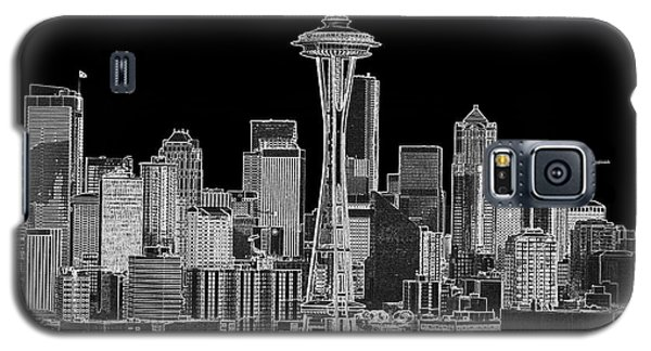 Seattle Black And White Galaxy S5 Case by Larry Keahey