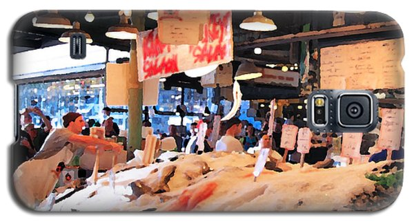 Seattle Fish Throw Pike St Market Galaxy S5 Case