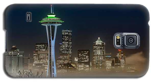 Seattle Foggy Night Lights Galaxy S5 Case