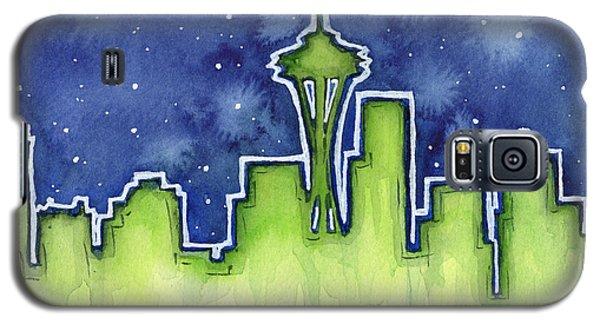 Seattle Night Sky Watercolor Galaxy S5 Case