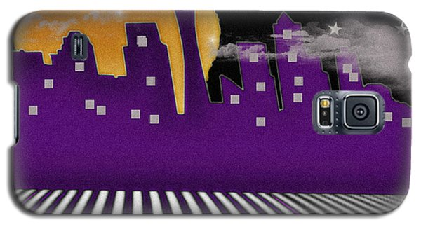 Galaxy S5 Case featuring the digital art Seattle Skyline by Digital Art Cafe