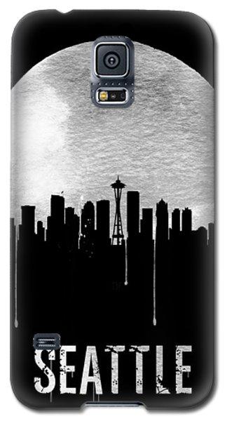 Seattle Skyline Black Galaxy S5 Case by Naxart Studio