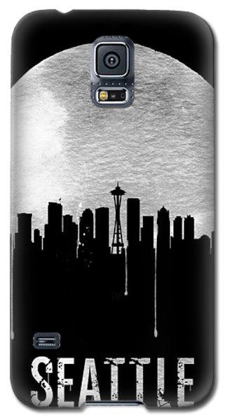 Seattle Skyline Black Galaxy S5 Case