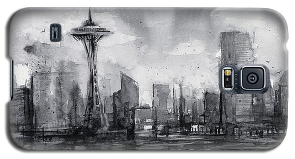 Seattle Skyline Painting Watercolor  Galaxy S5 Case