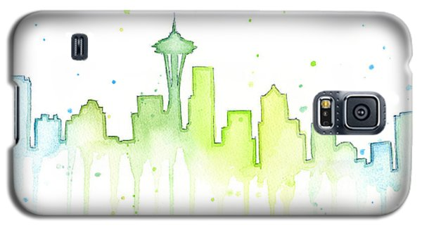 Seattle Skyline Watercolor  Galaxy S5 Case