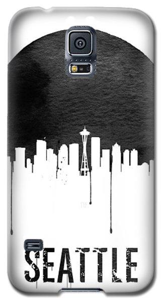 Seattle Skyline White Galaxy S5 Case by Naxart Studio