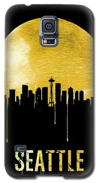 Seattle Skyline Yellow Galaxy S5 Case by Naxart Studio