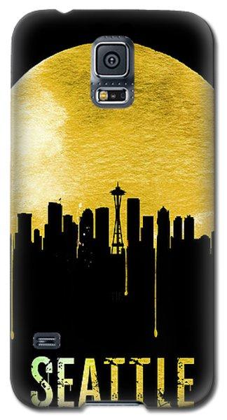 Seattle Skyline Yellow Galaxy S5 Case