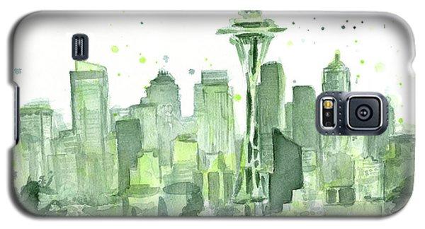 Seattle Galaxy S5 Case - Seattle Watercolor by Olga Shvartsur