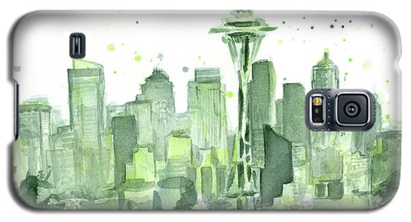 Seattle Watercolor Galaxy S5 Case