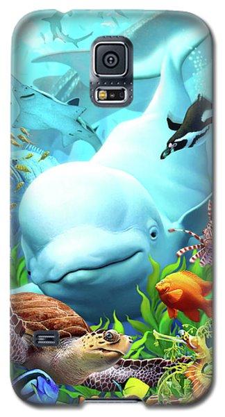 Dolphin Galaxy S5 Case - Seavilians 2 by Jerry LoFaro