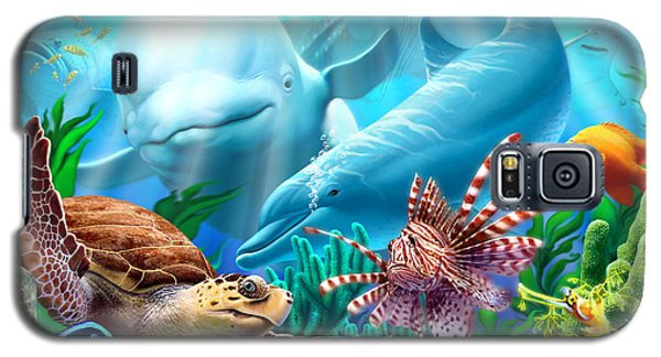 Whale Galaxy S5 Case - Seavilians 1 by Jerry LoFaro
