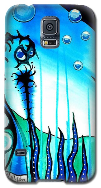 Galaxy S5 Case featuring the painting Seaweed - Art By Dora Hathazi Mendes by Dora Hathazi Mendes