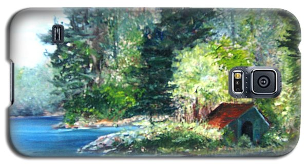 Secluded Boathouse-millsite Lake  Galaxy S5 Case