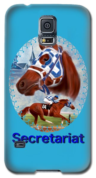 Secretariat Racehorse Portrait Galaxy S5 Case