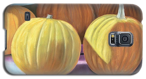 Galaxy S5 Case featuring the pastel Sedillo Pumpkins by Jan Amiss