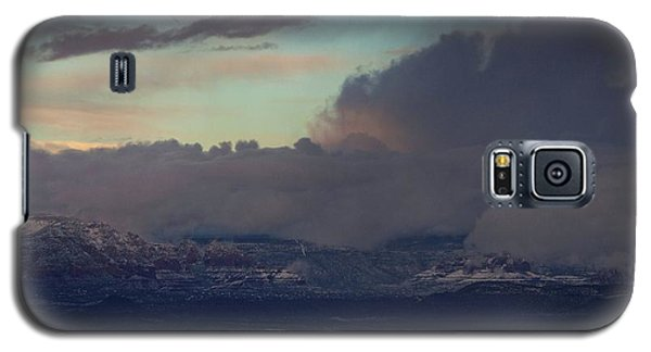 Sedona At Sunset With Red Rock Snow Galaxy S5 Case