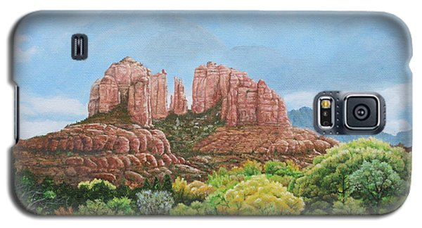 Galaxy S5 Case featuring the painting Sedona Az by Mike Ivey