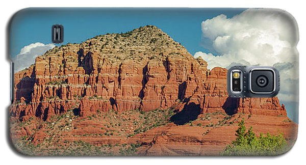 Galaxy S5 Case featuring the photograph Sedona, Rocks And Clouds by Bill Gallagher
