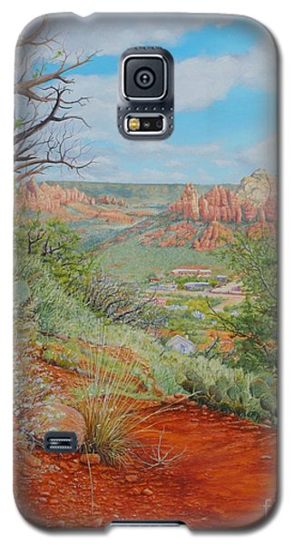 Galaxy S5 Case featuring the painting Sedona Trail by Mike Ivey
