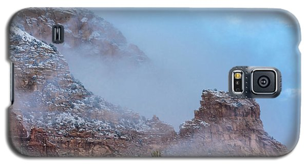 Galaxy S5 Case featuring the photograph Sedona Winter by Sandra Bronstein