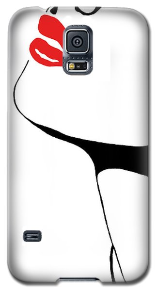 Seduction With Red Lips - Sharon Cummings Galaxy S5 Case by Sharon Cummings