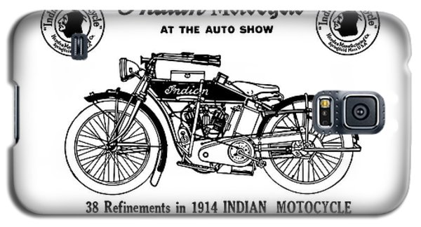 Galaxy S5 Case featuring the mixed media See New 1914 Indian Motocycle At The Auto Show by Daniel Hagerman