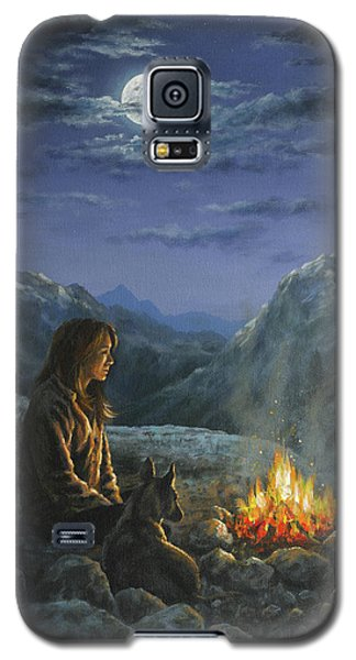 Galaxy S5 Case featuring the painting Seeking Solace by Kim Lockman