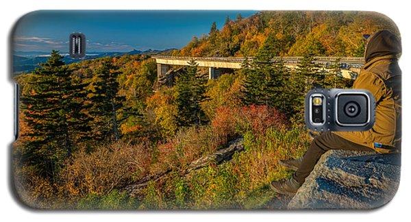 Seize The Day At Linn Cove Viaduct Autumn Galaxy S5 Case