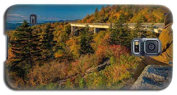 Seize The Day At Linn Cove Viaduct Autumn Galaxy S5 Case