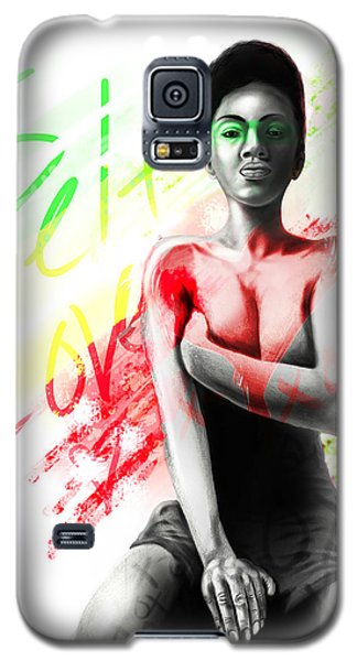 Galaxy S5 Case featuring the digital art Self Love Xoxo by AC Williams