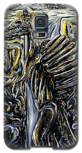 Galaxy S5 Case featuring the painting Self-portrait- Meme by Ryan Demaree