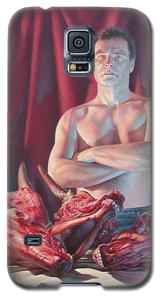 Self Portrait With Slaughtered Cow Heads Galaxy S5 Case