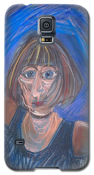 Galaxy S5 Case featuring the pastel Selfie by Carolyn Weltman