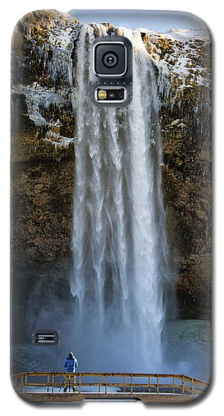 Seljalandsfoss Waterfall Iceland Europe Galaxy S5 Case by Matthias Hauser