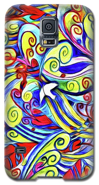 Semi Abstract Paintings Button Galaxy S5 Case