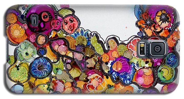 Galaxy S5 Case featuring the painting Send In The Clowns by Suzanne Canner