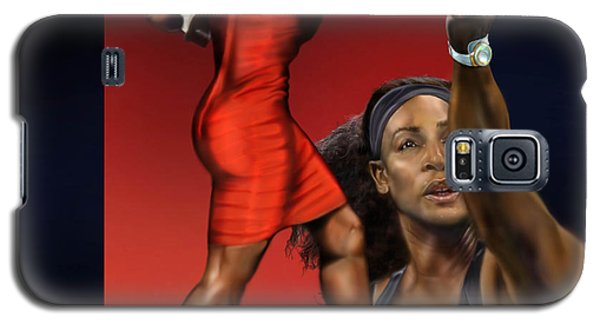 Serena Williams Galaxy S5 Case - Sensuality Under Extreme Power - Serena The Shape Of Things To Come by Reggie Duffie