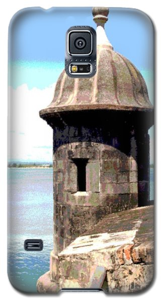 Galaxy S5 Case featuring the photograph Sentry Box In El Morro by The Art of Alice Terrill