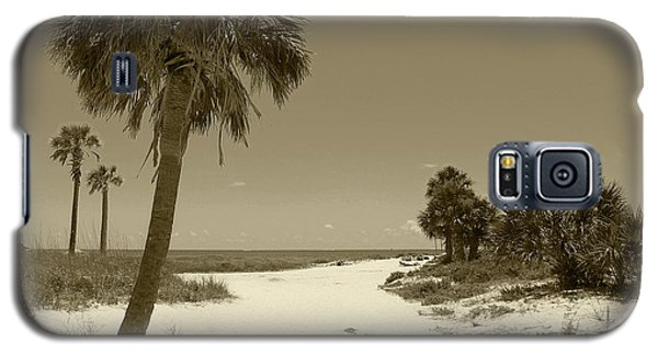 Galaxy S5 Case featuring the photograph Sepia Beach by Jeanne Forsythe
