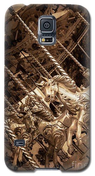 Sepia Carousel Horse Galaxy S5 Case