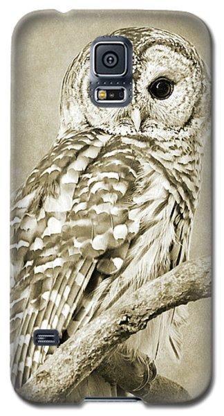 Sepia Owl Galaxy S5 Case