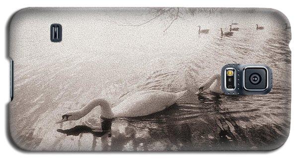 Sepia Swans Galaxy S5 Case