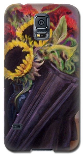 Galaxy S5 Case featuring the painting September Cincher by Laura Aceto
