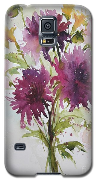 September Dahlias Galaxy S5 Case