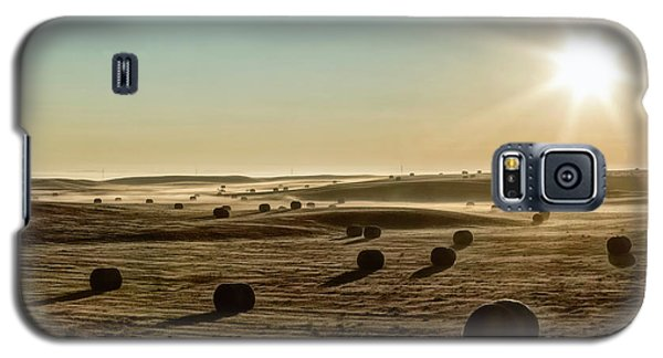 Galaxy S5 Case featuring the photograph September Hay by Brad Allen Fine Art