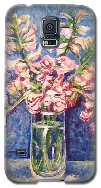 Galaxy S5 Case featuring the painting September Snaps by Laura Aceto