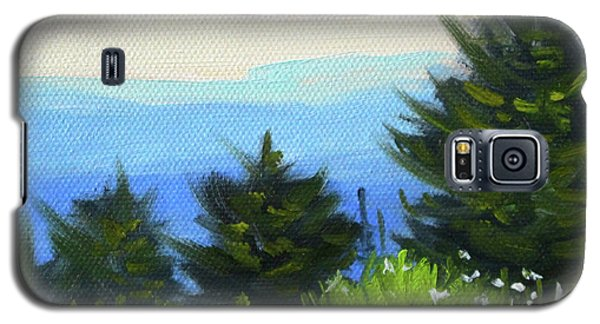 Galaxy S5 Case featuring the painting Sequim Vista by Nancy Merkle
