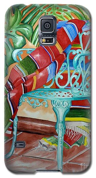 Serape On Wrought Iron Chair II Galaxy S5 Case